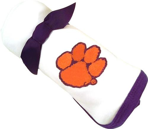 Clemson Tigers Baby Receiving Blanket