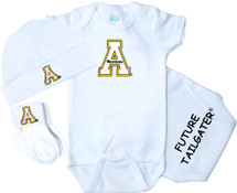 Appalachian State Mountaineers Homecoming 3 Piece Baby Gift Set