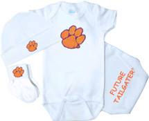 Clemson Tigers Homecoming 3 Piece Baby Gift Set