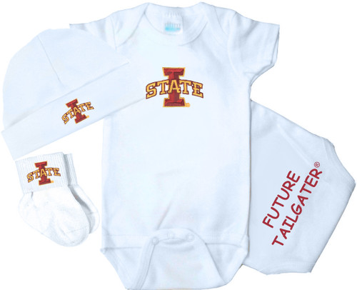 Iowa State Cyclones 3 Piece Baby Gift Set