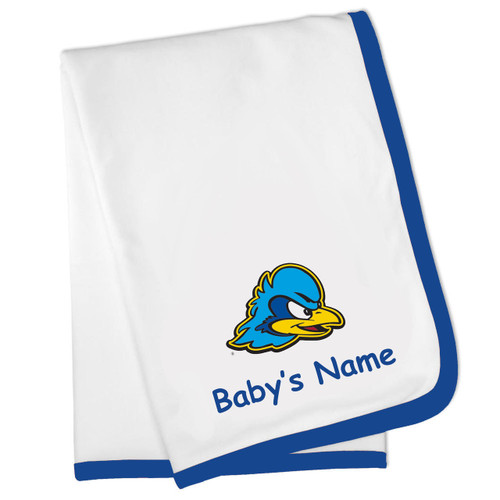 Delaware Blue Hens Personalized Baby Blanket