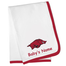 Arkansas Razorbacks Personalized Baby Blanket