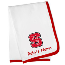 North Carolina State Wolfpack Personalized Baby Blanket