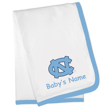 North Carolina Tar Heels Personalized Baby Blanket