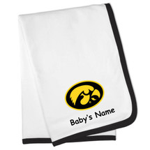 Iowa Hawkeyes Personalized Baby Blanket