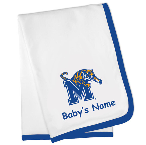Memphis Tigers Personalized Baby Blanket