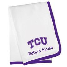 Texas Christian TCU Horned Frogs Personalized Baby Blanket