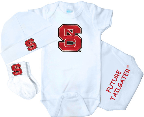 NC State Wolfpack Homecoming 3 Piece Baby Gift Set