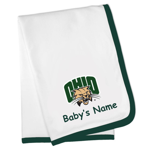Ohio Bobcats Personalized Baby Blanket