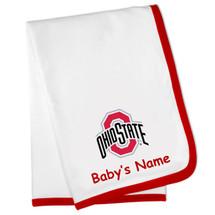 Buckeyes Personalized Baby Minky Blanket and Chevron Bib /& Burp Cloth