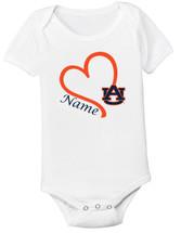 Auburn Tigers Personalized Baby Onesie