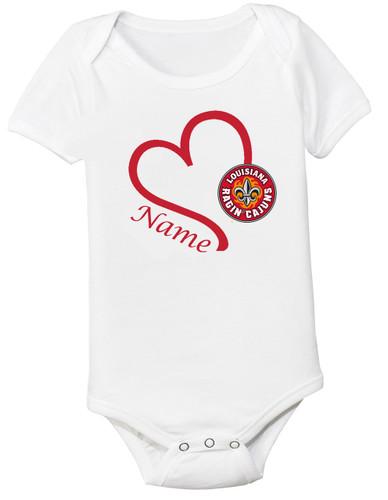 Louisiana Ragin Cajuns Personalized Baby Onesie