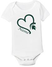 Michigan State Spartans Personalized Baby Onesie