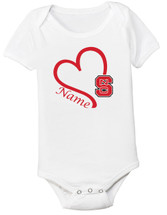 North Carolina State Wolfpack Personalized Baby Onesie