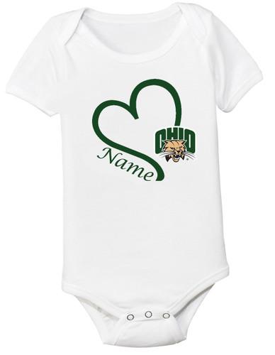 Ohio Bobcats Personalized Baby Onesie