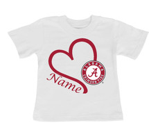 Alabama Crimson Tide Personalized Baby/Toddler T-Shirt