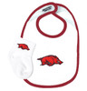 Arkansas Razorbacks Baby Bib and Socks Set