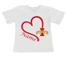 Iowa State Cyclones Personalized Heart Baby/Toddler T-Shirt