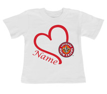 Louisiana Ragin Cajuns Personalized Heart Baby/Toddler T-Shirt