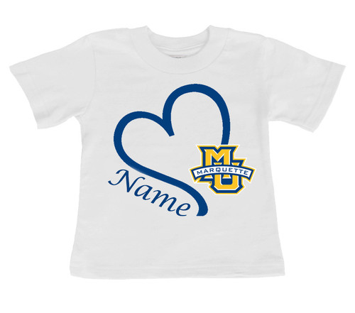 Marquette Golden Eagles Personalized Baby/Toddler T-Shirt