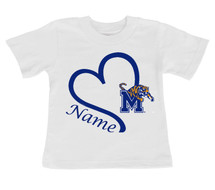 Memphis Tigers Personalized Heart Baby/Toddler T-Shirt