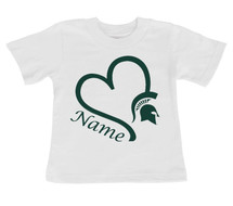 Michigan State Spartans Personalized Baby/Toddler T-Shirt