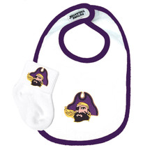 East Carolina Pirates Baby Bib and Socks Set