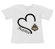 Purdue Boilermakers Personalized Heart Baby/Toddler T-Shirt