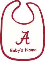 Alabama Crimson Tide Personalized 2 Ply Baby Bib