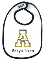 Appalachian State Mountaineers Personalized 2 Ply Baby Bib