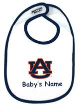 Auburn Tigers Personalized 2 Ply Baby Bib