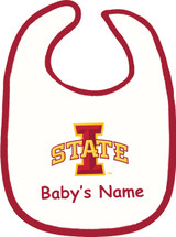 Iowa State Cyclones Personalized 2 Ply Baby Bib