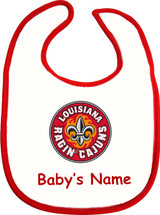 Louisiana Ragin Cajuns Personalized 2 Ply Baby Bib