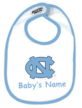 North Carolina Tar Heels Personalized 2 Ply Baby Bib