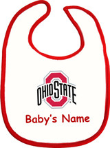 Ohio State Buckeyes Personalized 2 Ply Baby Bib
