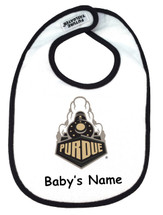 Purdue Boilermakers Personalized 2 Ply Baby Bib