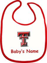 Texas Tech Red Raiders Personalized 2 Ply Baby Bib