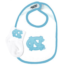 North Carolina Tar Heels Baby Bib and Socks Set
