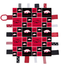 Arkansas Razorbacks Baby Sensory Tag Lovey Minky Blanket