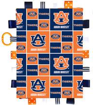 Auburn Tigers Baby Sensory Tag Lovey Minky Blanket
