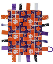 Clemson Tigers Baby Sensory Tag Lovey Minky Blanket