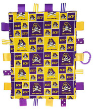 East Carolina Pirates Baby Sensory Tag Lovey Minky Blanket
