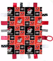Georgia Bulldogs Baby Sensory Tag Minky Blanket