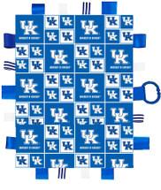 Kentucky Wildcats Baby Sensory Tag Lovey Minky Blanket