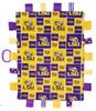 LSU Tigers Baby Sensory Tag Lovey Minky Blanket