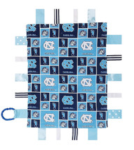 North Carolina Tar Heels Baby Sensory Tag Lovey Minky Blanket