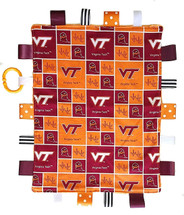 Virginia Tech Hokies Baby Sensory Tag Lovey Minky Blanket