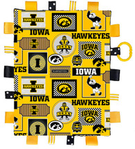 Iowa Hawkeyes Baby Sensory Tag Lovey Minky Blanket