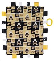 Purdue Boilermakers Baby Sensory Tag Lovey Minky Blanket