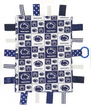 Penn State Nittany Lions Baby Sensory Tag Lovey Minky Blanket